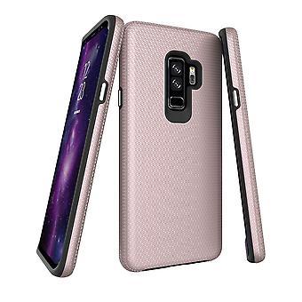 Per la custodia Samsung Galaxy S9 PLUS, coperto protettivo a prova di ammortizzatore Oro Rosa