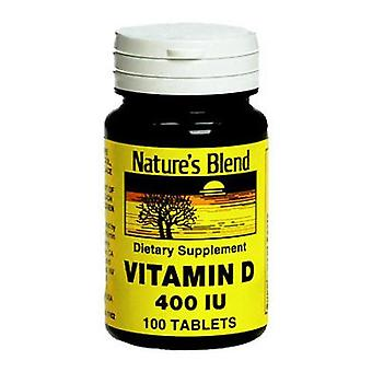 Nature's blend vitamin d3 400 iu, tablets, 100 ea