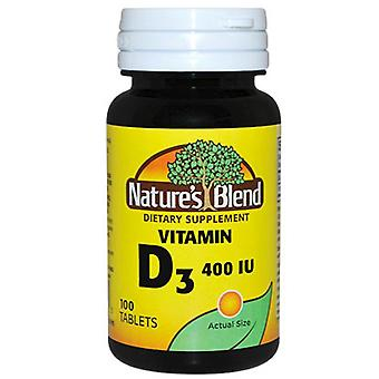 Nature's blend vitamin d, 400 iu, tablets, 100 ea