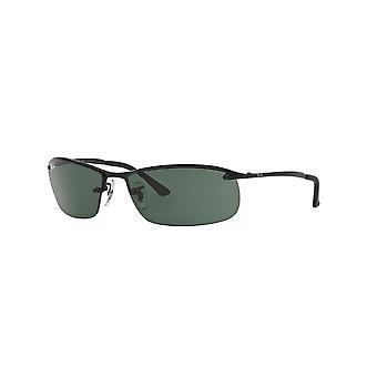 Ray-Ban Top Bar RB3183 006/71 mattamusta/vihreä aurinko lasit