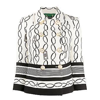 Elisabetta Franchi Gi94201e2e84 Women's White/black Polyester Blazer