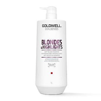 Goldwell dualsenses blondjes en hoogtepunten anti-gele shampoo 1000ml