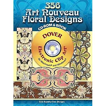 346 Art Nouveau Floral Designs CDROM and Book by Edited by Julius Hoffmann
