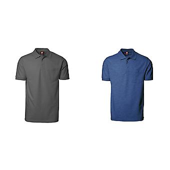 ID Mens Pro Wear kurze Kurzarm Polo-Shirt mit Tasche