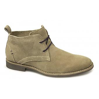 Front Roscoe Mens Suede Leather Desert Boots Sand