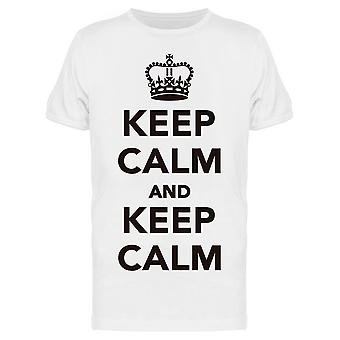 Keep Calm And  Keep Calm Tee Men's -Image by Shutterstock