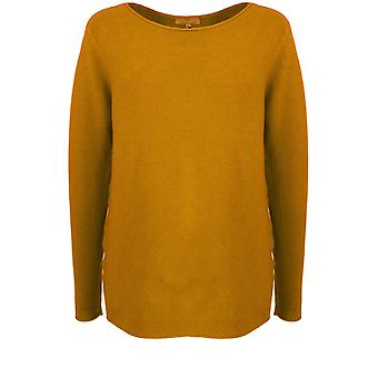 Yellow Label Mustard Ribbed Knit Jumper