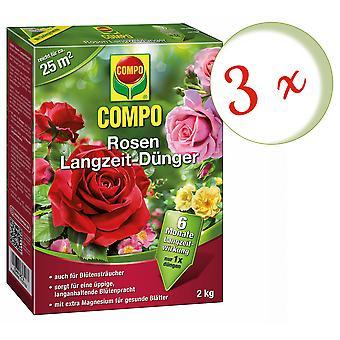 Sparset: 3 × كومبو الورود طويلة الأجل الأسمدة، 2 كجم