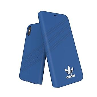 adidas OR Booklet Case Suede FW17 iPhone XS / X - Blauw