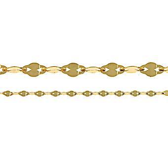 14k Gul Guld Fancy Hög polska kedjan halsband smycken gåvor för kvinnor - Längd: 16 till 20