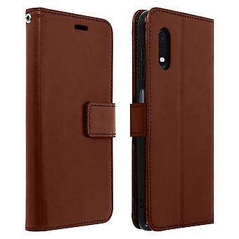 Vintage Series, flip wallet case for Samsung Galaxy Xcover Pro - Brown