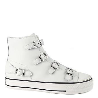 Ash Footwear Virgin White Leather Platform Trainer