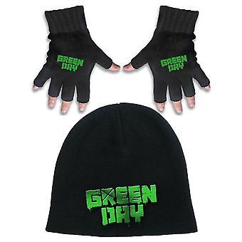 Green Day Beanie Hat en Glove band Logo American Idiot nieuwe Officiële Gift set