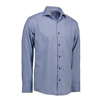 ID Mens Dobby Alonso Shirt lange mouw Modern Fit