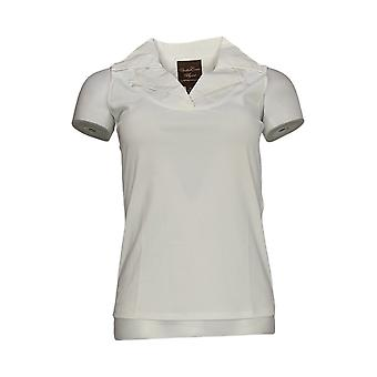 Kathleen Kirkwood Women's Top Dictrac-Ease Notch Collar White A224161