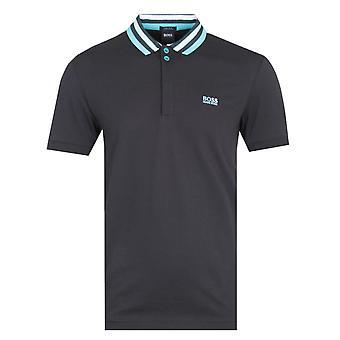Boss Paddy Contrast Collar Zwart Polo Shirt