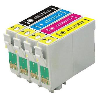 RudyTwos Replacement for Epson Fox Ink Cartridge Black Cyan Yellow & Magenta (4 Pack) Compatible with S22, SX125, SX130, SX230, SX235W, SX420W, SX425W, SX430W, SX435W, SX438W, SX440W, SX445W, SX445WE,