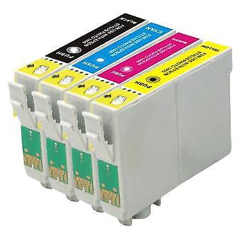 RudyTwos zamiennik dla Epson Fox wkład atramentowy czarny cyjan zgodny (4 szt) żółty & Magenta S22, SX125, SX130, SX230, SX235W, przypadku modeli SX420W, SX425W, SX430W, SX435W, SX438W, SX440W, SX445W, SX445WE,