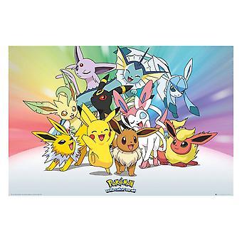 Pokémon, Maxi Poster - Eevee and Pikachu