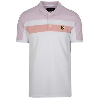 Lyle & Scott White Block Poolopaita