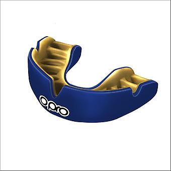Opro power fit mouth guard blue/gold