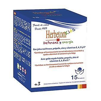Herbetom kids Defenses and Energy 15 units (Orange - Lemon)