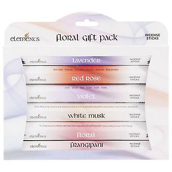 Something Different Elements Incense Stick Floral Gift Pack (Pack Of 6)