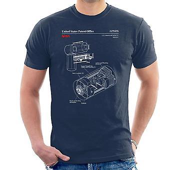 NASA US Laboratory Module Destiny Blueprint Men's T-Shirt