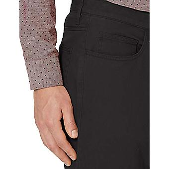Goodthreads Miehet's Straight-Fit 5-Pocket Chino Pant, Musta, 33W x 32L