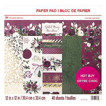 Craft Smith Gilded Berry 12x12 Inch Paper Pad