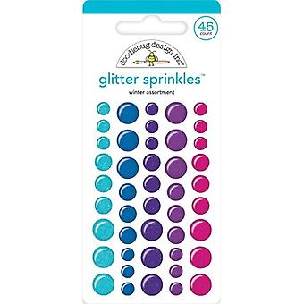 Doodlebug Design Winter Assortment Glitter Sprinkles (45pcs) (6445)