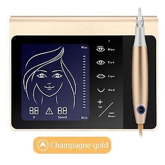 Touch Screen Permanent Makeup Machine Kit for Eyebrow  Lip - Eyeliner Machine With Cartridge Neeldes Rechargeable Battery
