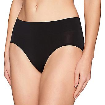 Arabella Women's Seamless Hipster Brief Panty, 3 Pack, Black/Café Au Lait/Wh...