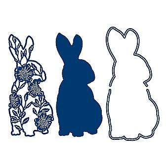 Tattered Lace Silhouette Rabbit Die Set