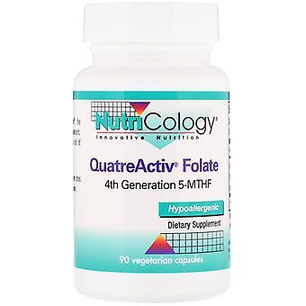 Nutricology, QuatreActiv Folate, 90 Vegetarian Capsules