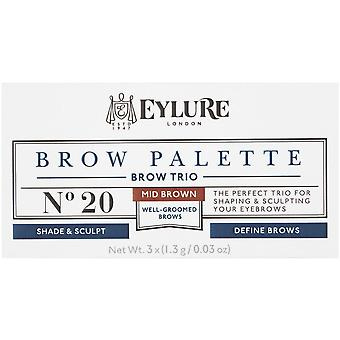 Eylure Brow Palette - Mid Brown - Perfect voor shaping en sculpting wenkbrauwen