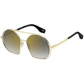 Sunglasses women round gold/black gradient