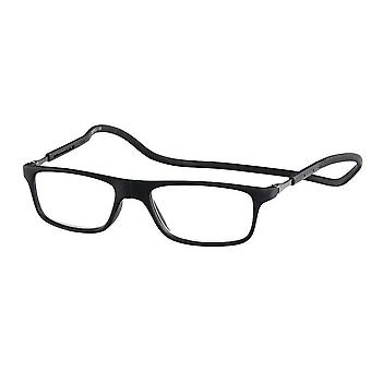 Reading Glasses Unisex Magnet Rubber Black Strength +2.00 (le-0180A)