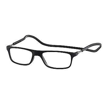 Leesbril Unisex Magnet Rubber Black Strength +2.00 (le-0180A)