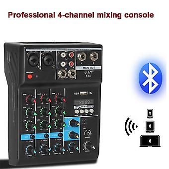 Portable Bluetooth Mixing Console 4 Channel Audio Mixer With Reverb Effect For Home Karaoke Usb Stage Karaoke Ktv