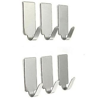 Stainless Steel, Adhesive Hooks Stick On Wall  Door For Clothes Towel Handbag