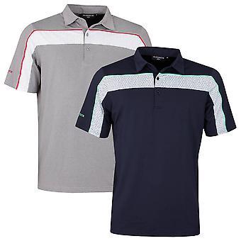 Glenmuir Mens Clyde 4-Way Stretch Moisture Wicking Golf Polo Shirt
