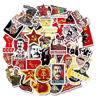 10/30/50pcs Mixed Soviet Union Stalin Ussr Cccp Het Stickers- Waterproof Pvc