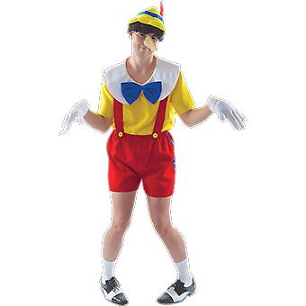 Orion kostuums mens Pinocchio marionet boeken & film fancy dress kostuum