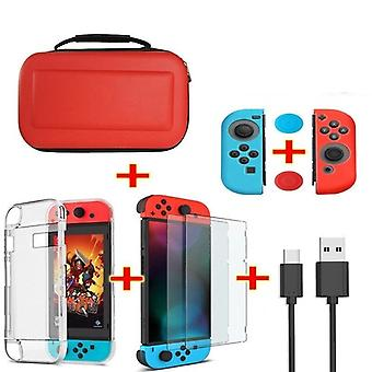 6 In 1 Game Accessory Set For Nintend Switch Travel Carrying Bag Screen