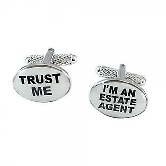 Ties Planet Trust Me I'm An Estate Agent Novelty Cufflinks