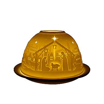 Light-Glow New Nativity Candle Holder Dome