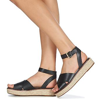 Michael Kors Women's Abbott Black Leather Sandal