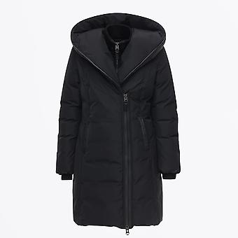 Mackage  - Kay - Hooded Down Coat With Signature Collar – Black