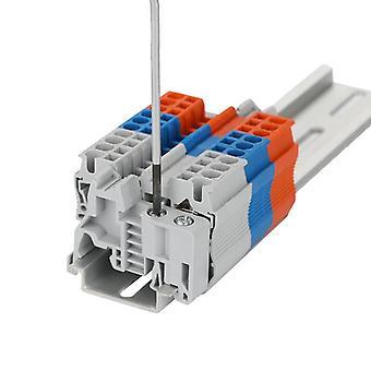 Din Rail Terminal Block Universal Panel Mount  Uk 2.5b Screw Electronic Terminal Strips Contactor